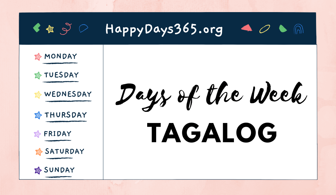 Days of the Week in Tagalog