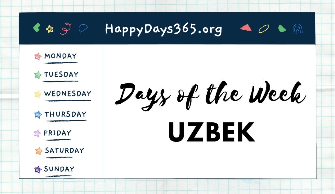 Days of the Week in Uzbek