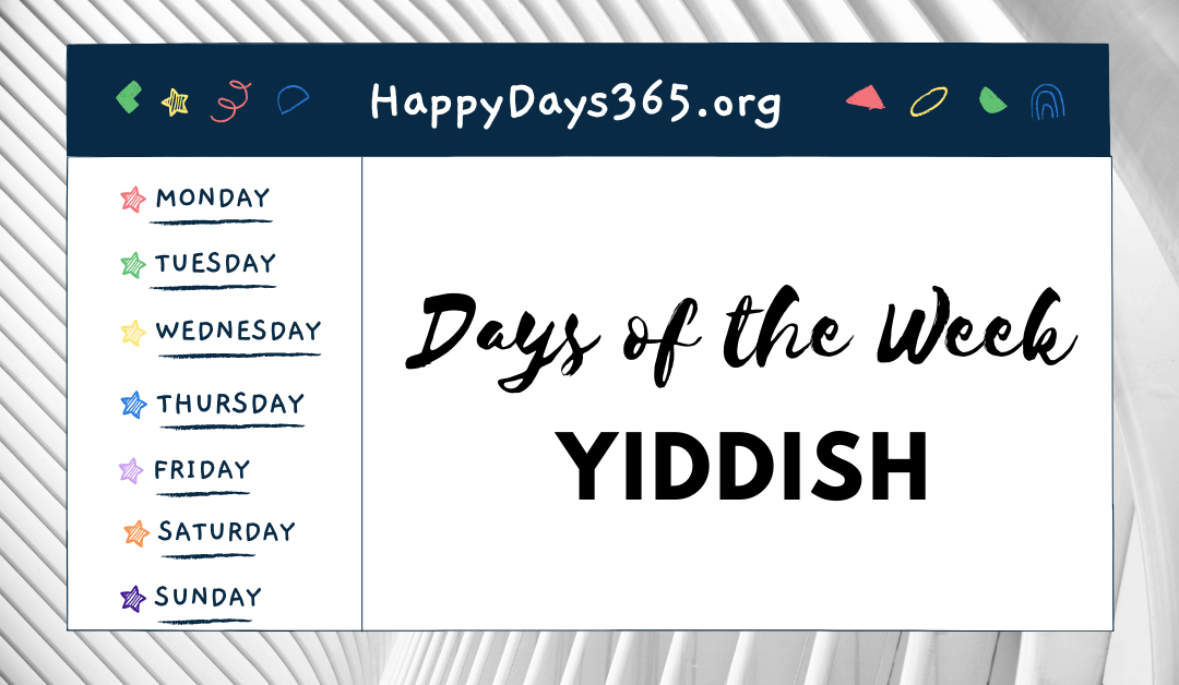 Days of the Week in Yiddish