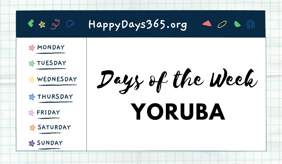 Days of the Week in Yoruba